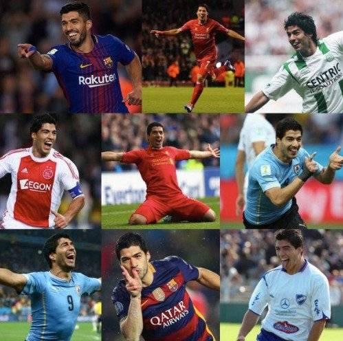 Luis Suárez celebra 400 goles
