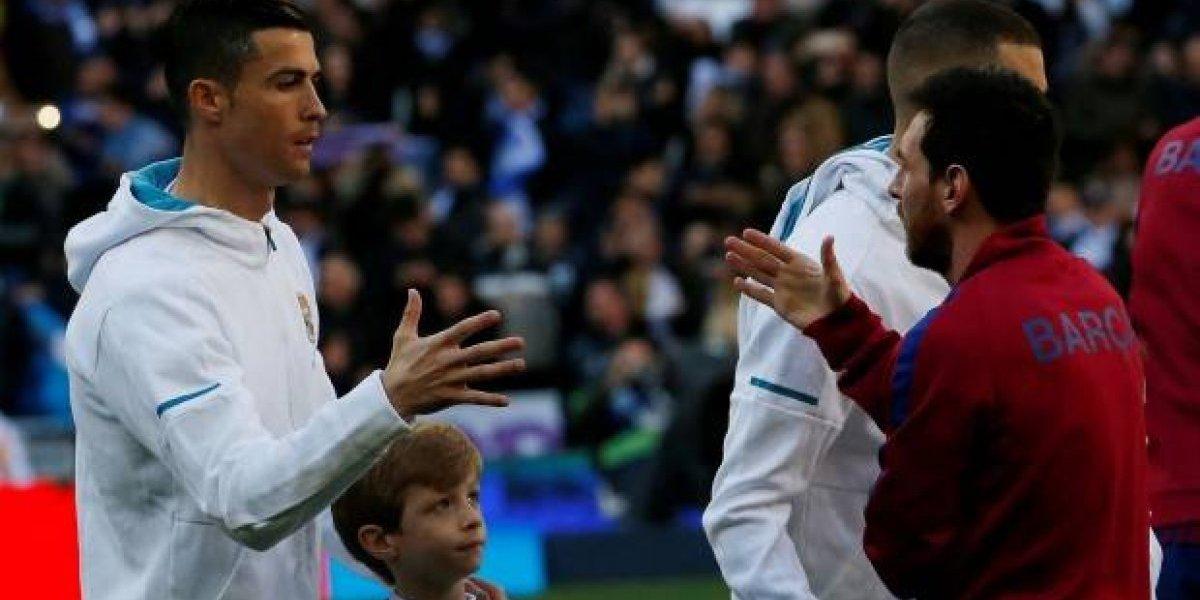 El noble gesto entre Messi y Cristiano Ronaldo en el Clásico que pocos vieron