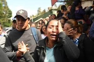 Familiares de niñas del Hogar Seguro Virgen de la Asunción