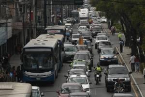 Tráfico en ciudad de Guatemala