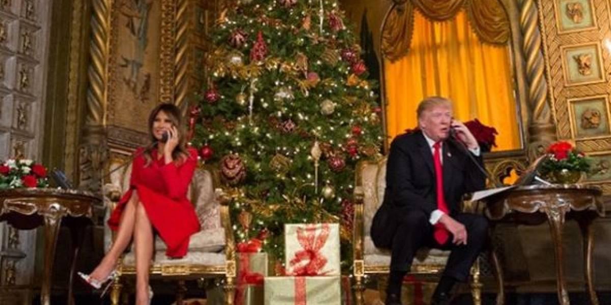 Donald y Melania Trump reciben llamadas de niños desde Florida