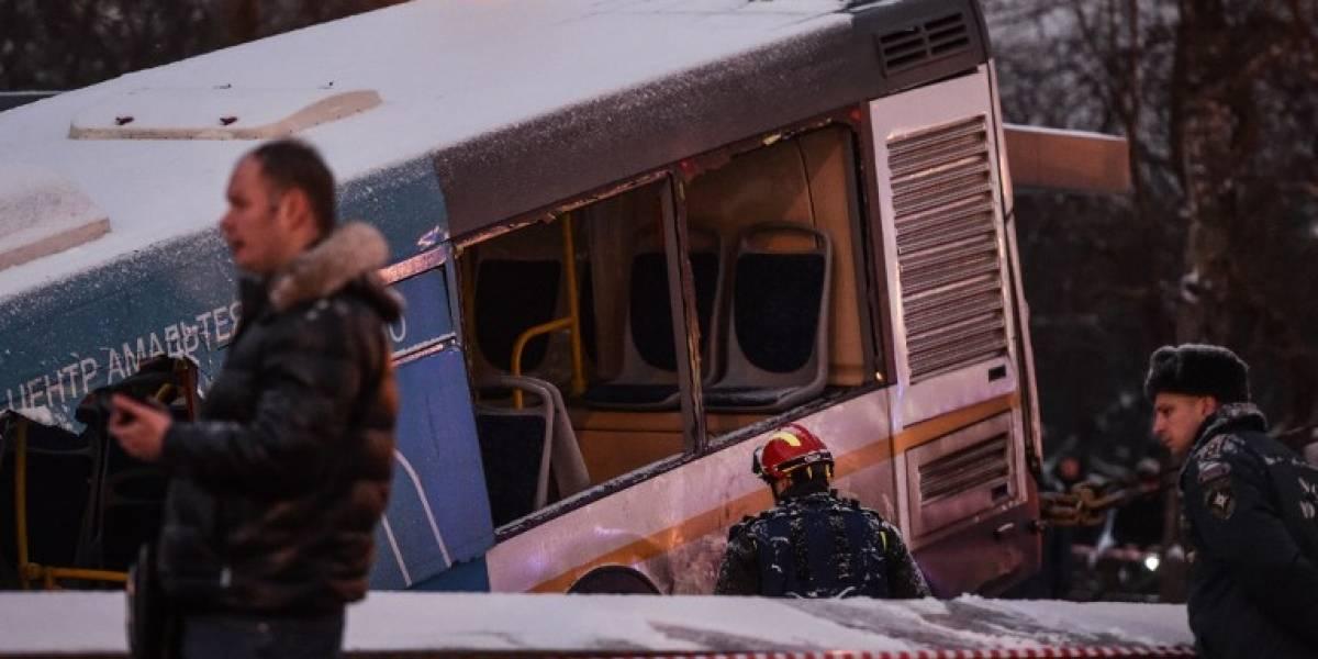 VIDEO. Autobús mata a varias personas en la salida de un subterráneo en Moscú