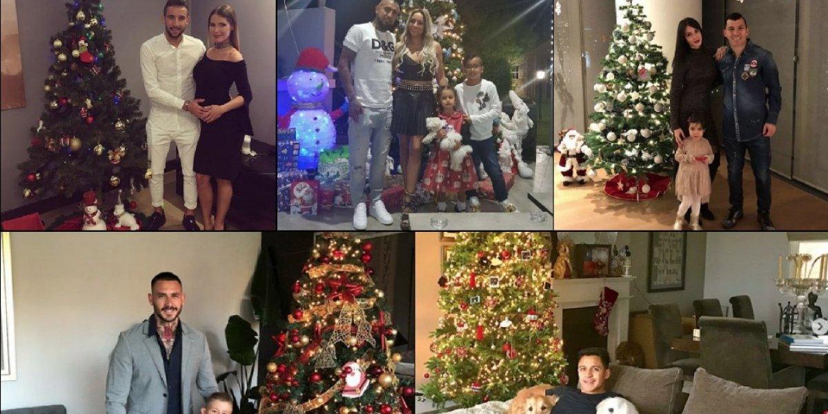 En familia y felices: los futbolistas chilenos tuvieron una tranquila Navidad 2017