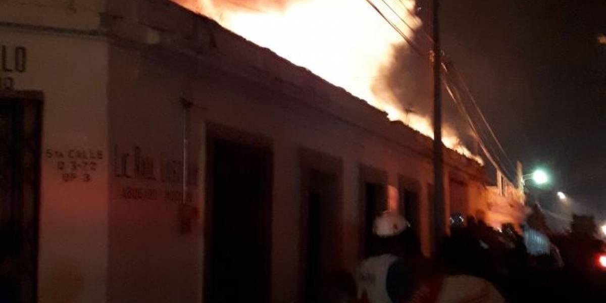 Varios incendios durante las primeras horas del 25 de diciembre