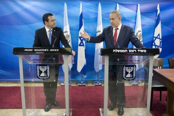 Jimmy Morales y Benjamín Netanyahu