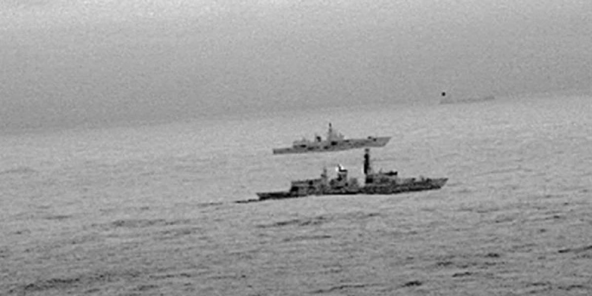 """Tensión en Navidad entre buques de guerra ruso e inglés: """"El Reino Unido nunca será intimidado"""""""