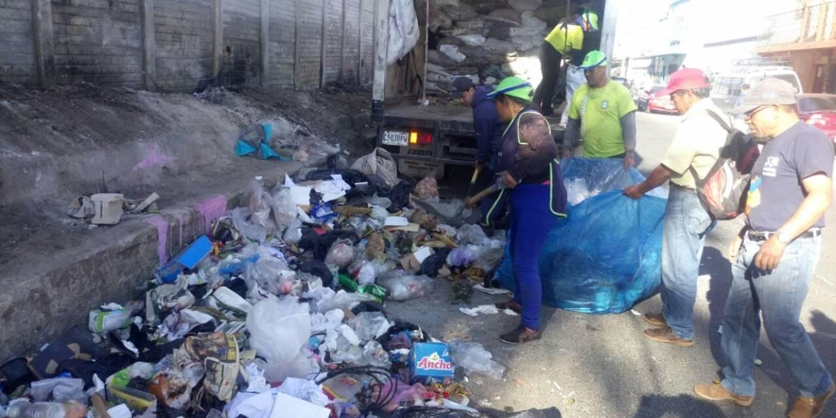 Municipalidad de Mixco espera acumular más de 2 mil toneladas de basura tras la Navidad