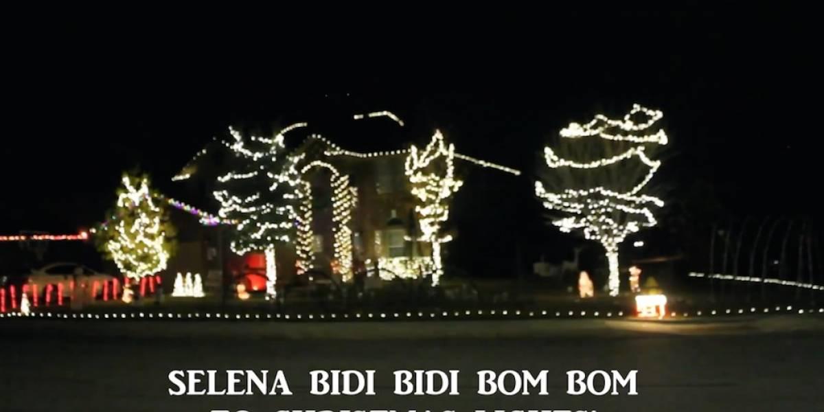 Conoce estas luces de Navidad que prenden al ritmo de Selena