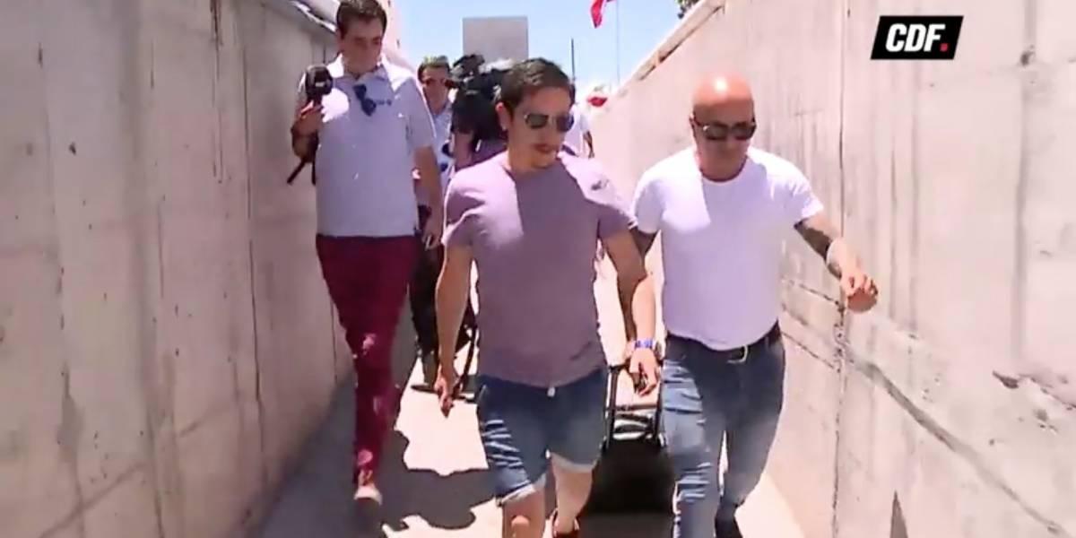 Sampaoli llegó en silencio a Chile tras polémica con policía: estará en evento con hinchas de la U