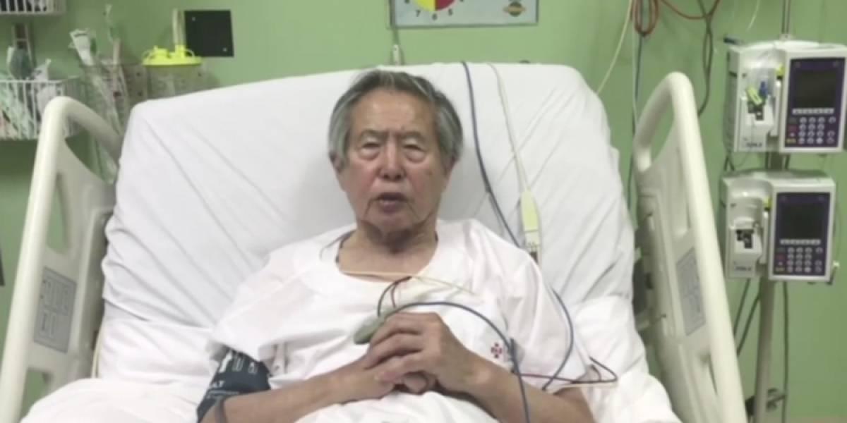VIDEO. Fujimori, desde el hospital, pide perdón a peruanos a quienes defraudó