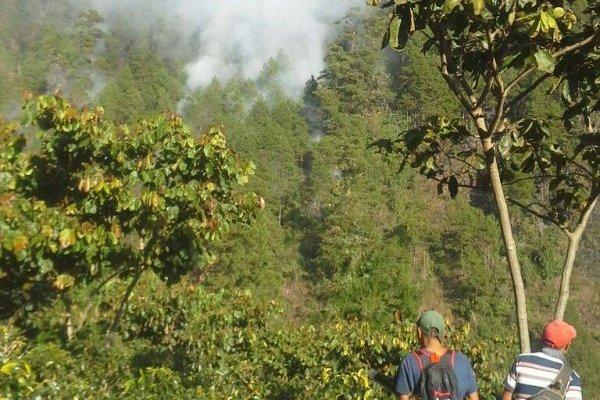 incendio forestal en Huehuetenango