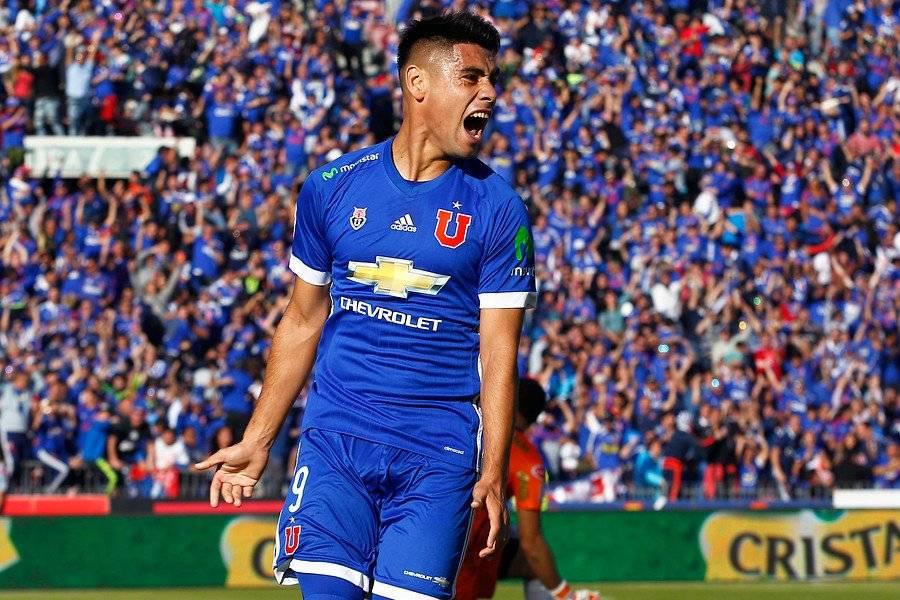 Con solo un semestre, Felipe Mora quedó en el segundo lugar de los goleadores de los clubes chilenos en 2017 / Foto: Photosport