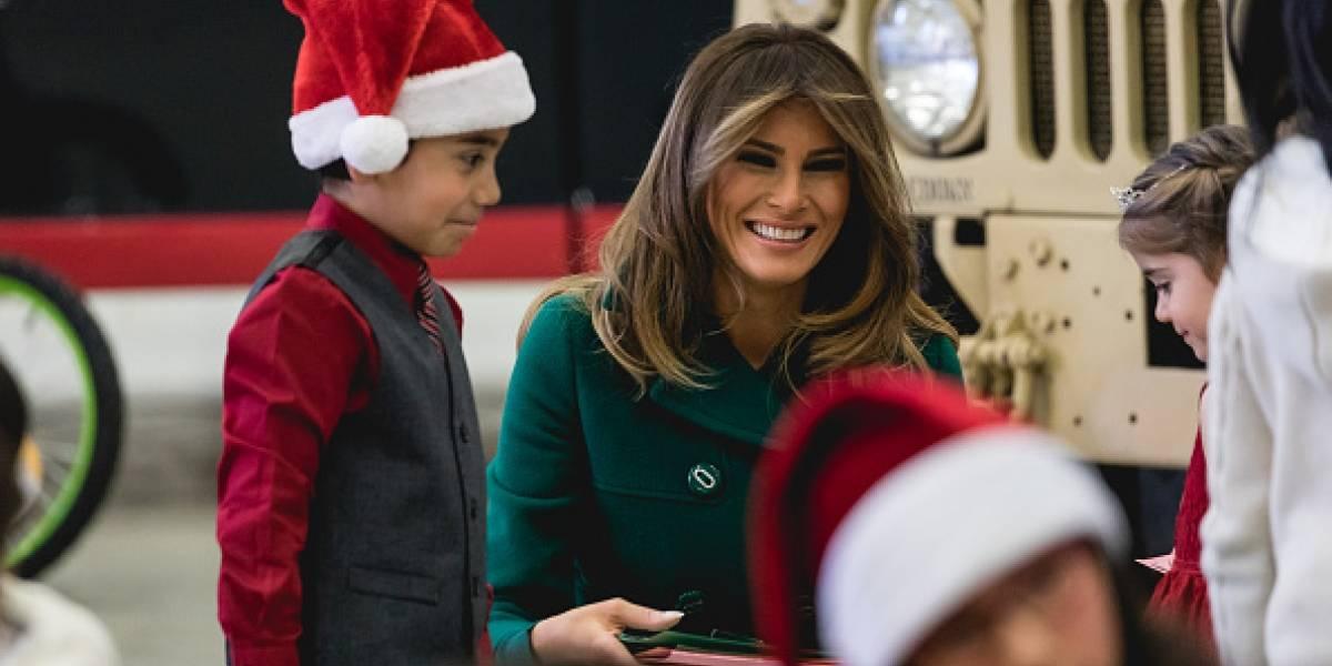 El selfie navideño de Melania Trump que desató críticas