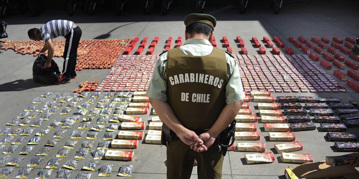 Previa de fin de año: 7 detenidos por venta y compra de fuegos de artificios