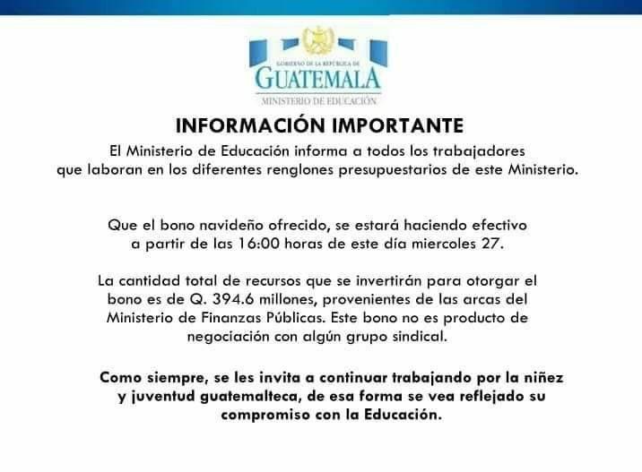 Aviso de Educación