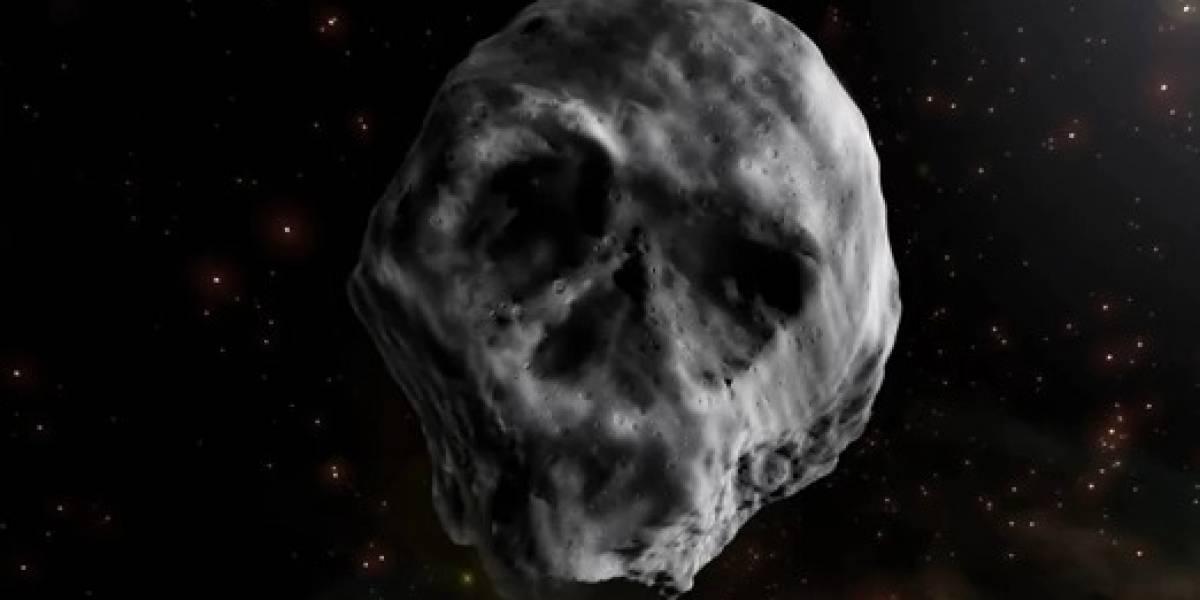 """Es más negro que el carbón y su aspecto es escalofriante: así es el """"asteroide calavera"""" que se acerca a la Tierra"""