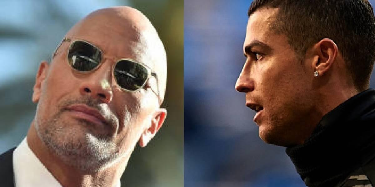 A 'La Roca' lo comparan con Cristiano Ronaldo y así reaccionó