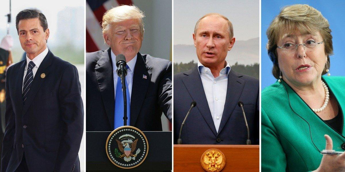Líderes mundiales terminan 2017 con popularidad a la baja