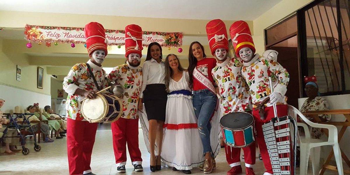 Miss Teen Mundial RD lleva alegría al Hogar de Ancianos San Francisco Asis