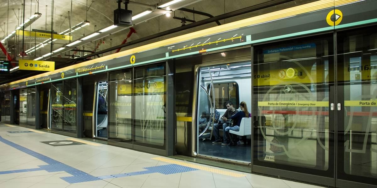 Metrô linha 4-Amarela não funciona neste domingo até as 16h