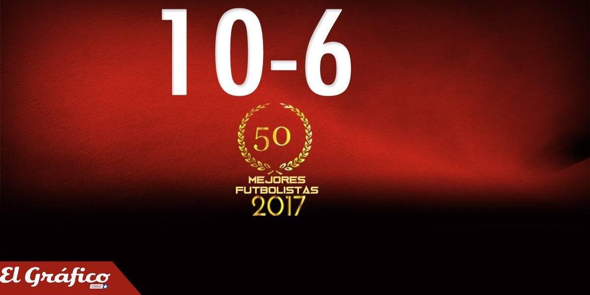 10-6: Los 50 mejores futbolistas chilenos del 2017
