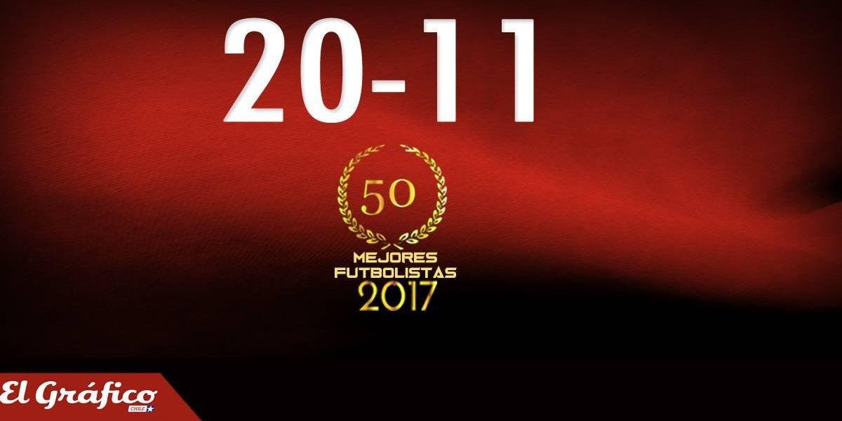 20-11: Los 50 mejores futbolistas chilenos del 2017