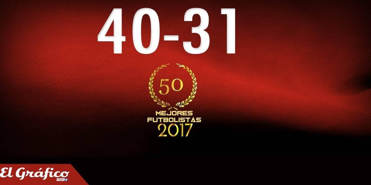 40-31: Los 50 mejores futbolistas chilenos del 2017