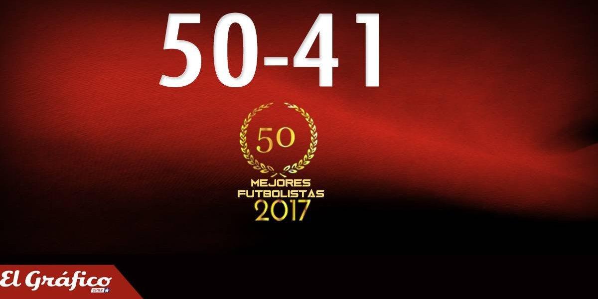 50-41: Los 50 mejores futbolistas chilenos del 2017