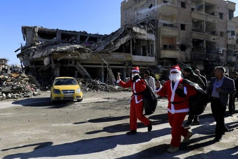 Santa Claus en Siria