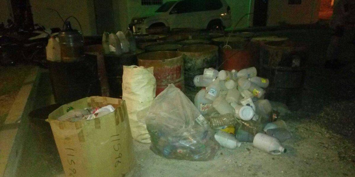 Desmantelan laboratorio clandestino de clerén en Barahona