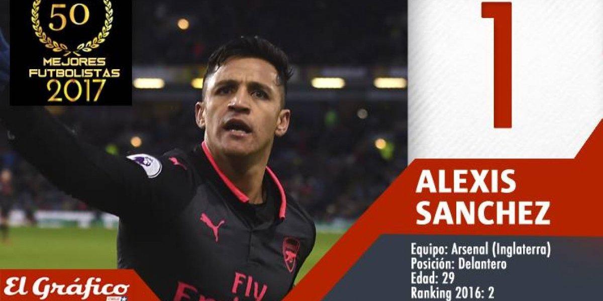 Los 50 mejores futbolistas chilenos de 2017: Alexis Sánchez se coronó en el ranking de El Gráfico Chile