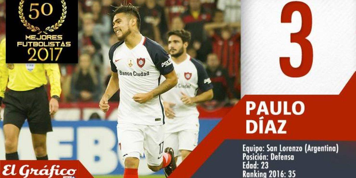 Los 50 mejores futbolistas chilenos de 2017: Paulo Díaz se metió en el podio