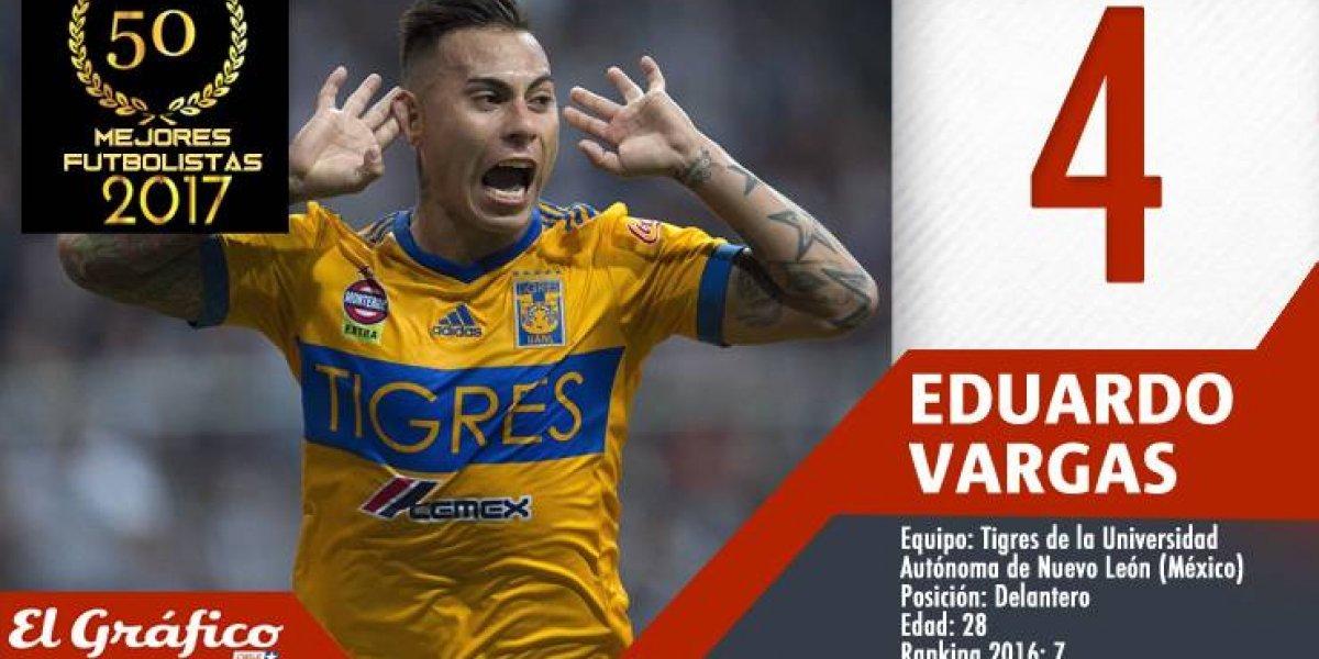Los 50 mejores futbolistas chilenos del 2017: Eduardo Vargas quedó cuarto con sus goles