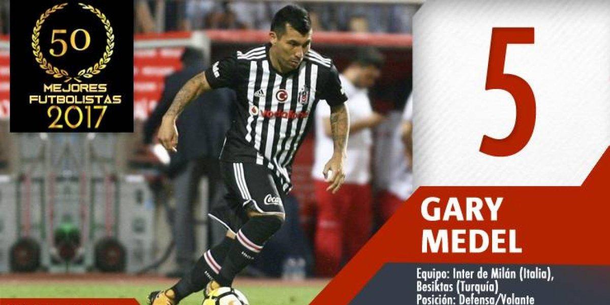 Los 50 mejores futbolistas chilenos del 2017: Gary Medel entró quinto con su garra