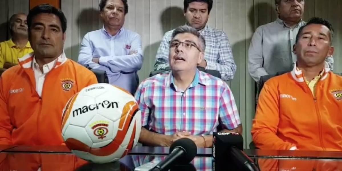 Pérez, presentado en Cobreloa: