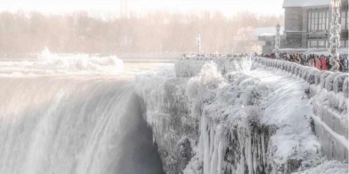 VIDEO. ¡Increíble! Las Cataratas del Niágara se congelan