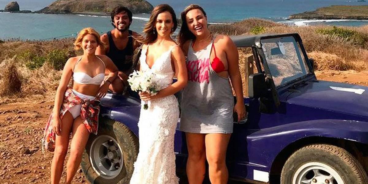 Isabella Santoni e Rodrigo Simas salvam noiva em Noronha