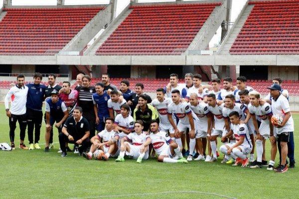 Melipilla celebró en un estadio vacío / imagen: Photosport