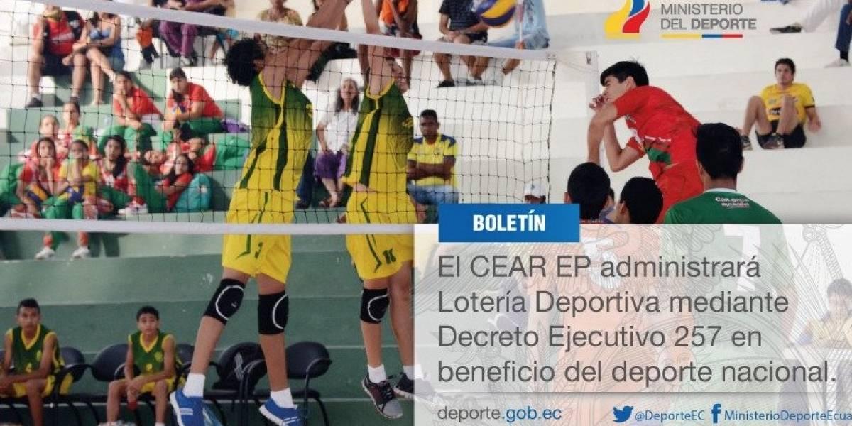 CEAR administrará lotería en beneficio del deporte en Ecuador