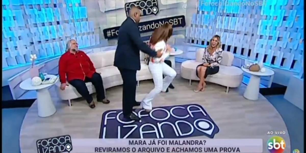 Mara Maravilha se revolta ao ser comparada com 'malandra' Anitta e é contida por segurança