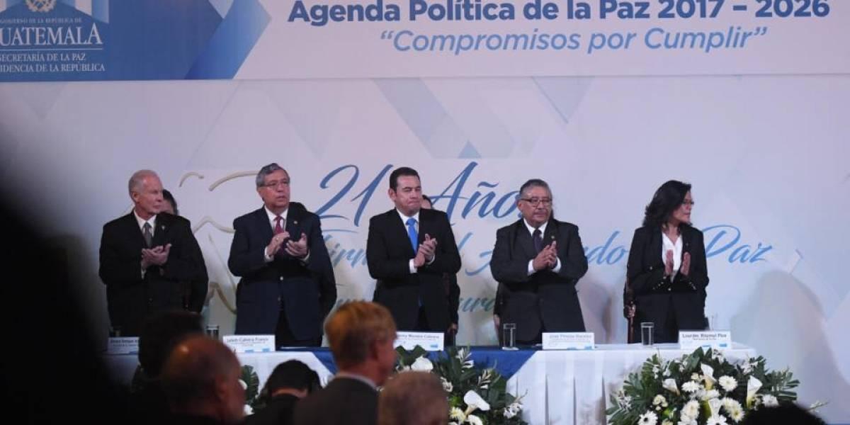 Conmemoran otro aniversario de la firma de los Acuerdos de Paz en el Palacio Nacional
