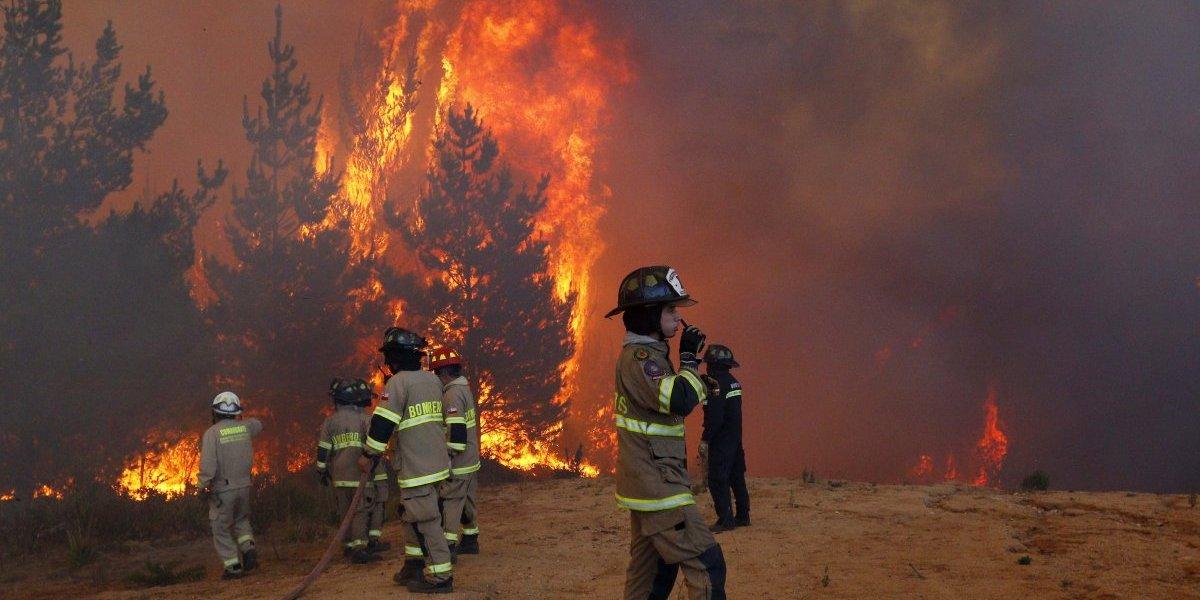 Mantienen alerta roja en San Pedro por incendio forestal