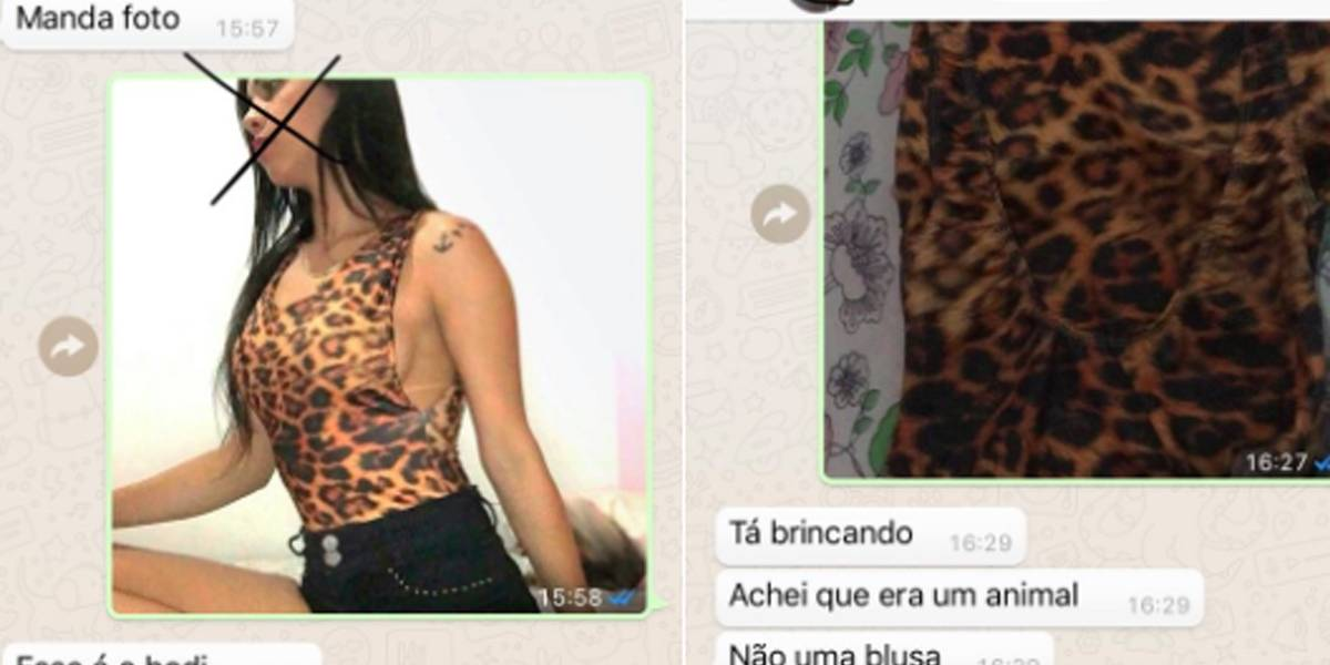 Mulher confunde peça de roupa com animal e viraliza na web