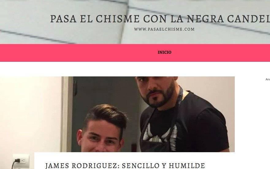 Captura de pantalla página web Negra Candela