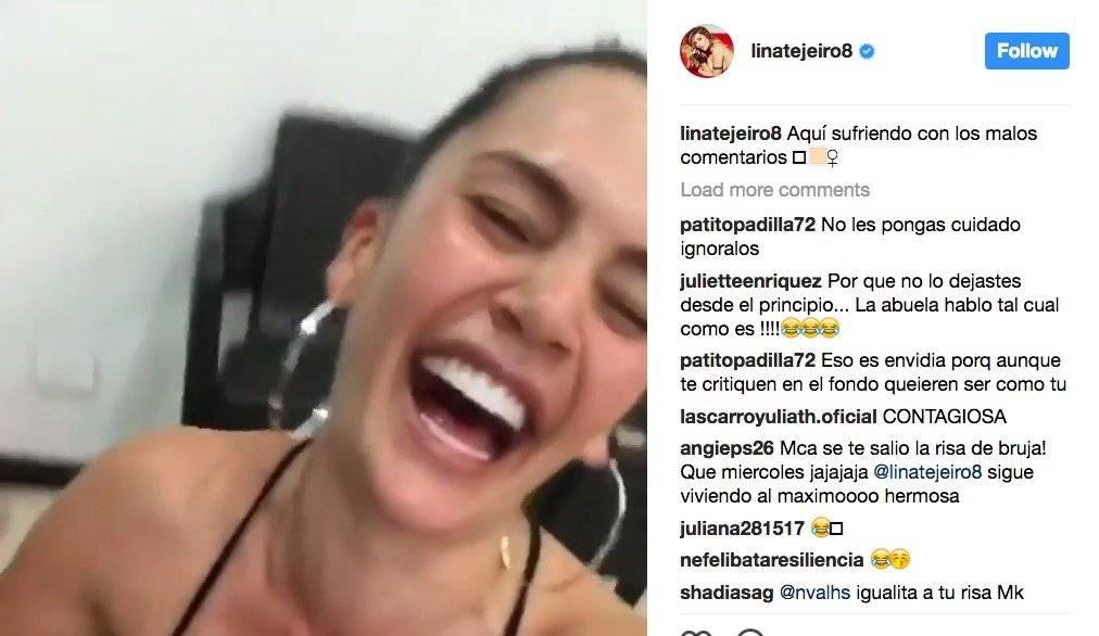 Captura de pantalla Instagram Lina Tejeiro
