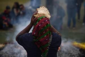 ceremonia maya por 21 años de la Firma de los Acuerdos de Paz