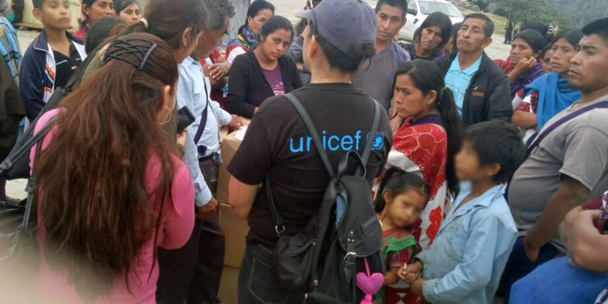 En Chiapas continúa la ayuda a Chalchihuitán; Unicef lo constata