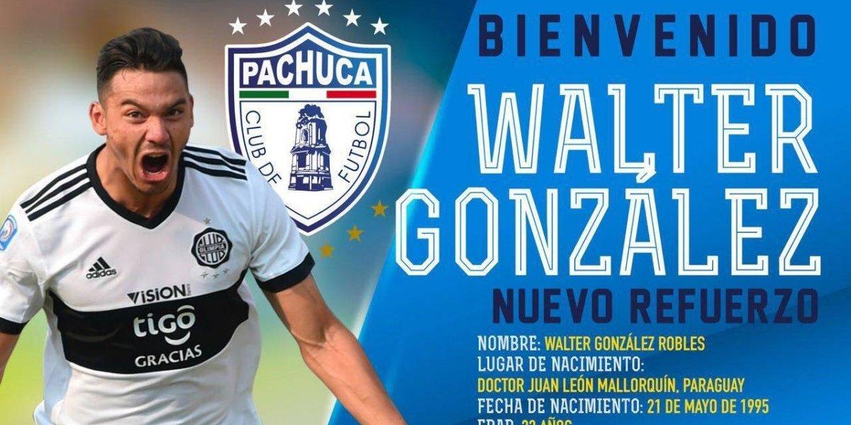 ¡OFICIAL! Walter González reforzará al Pachuca para el Clausura 2018