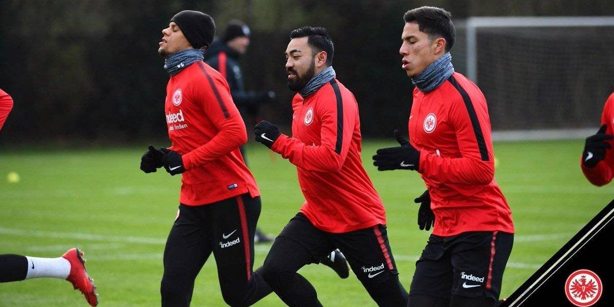 Marco Fabián ya entrena junto a Carlos Salcedo