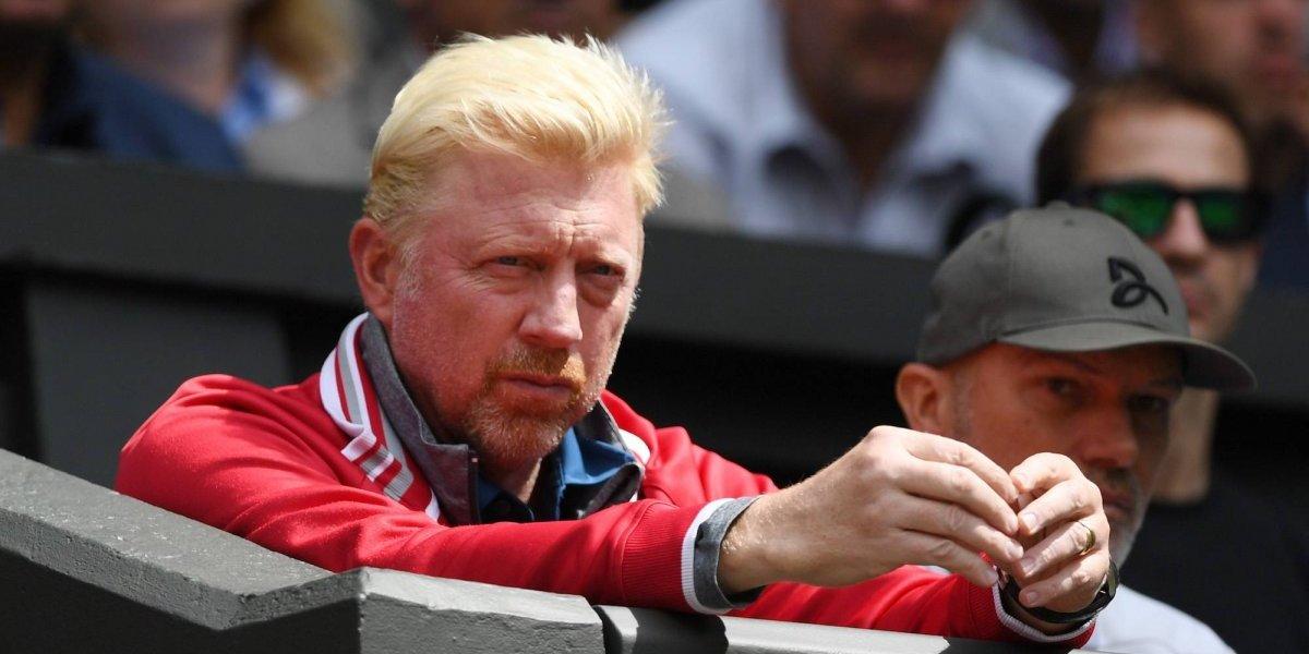 Boris Becker entregó una raqueta falsa en una subasta televisiva